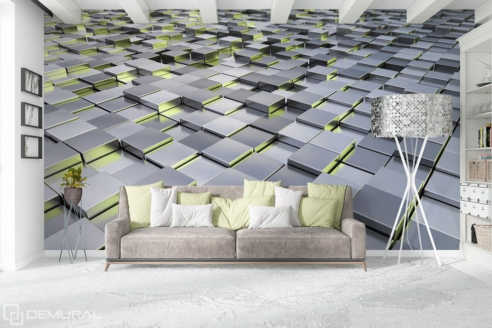 In the geometric environment Three-dimensional wallpaper, mural Photo wallpapers Demural