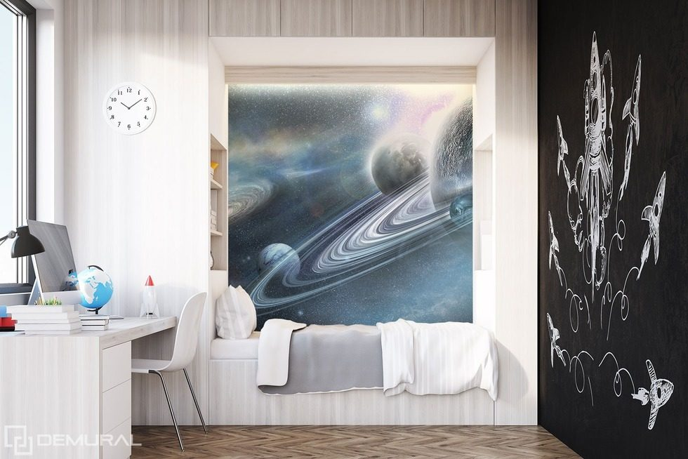 In the intergalactic world Boy's room wallpaper mural Photo wallpapers Demural