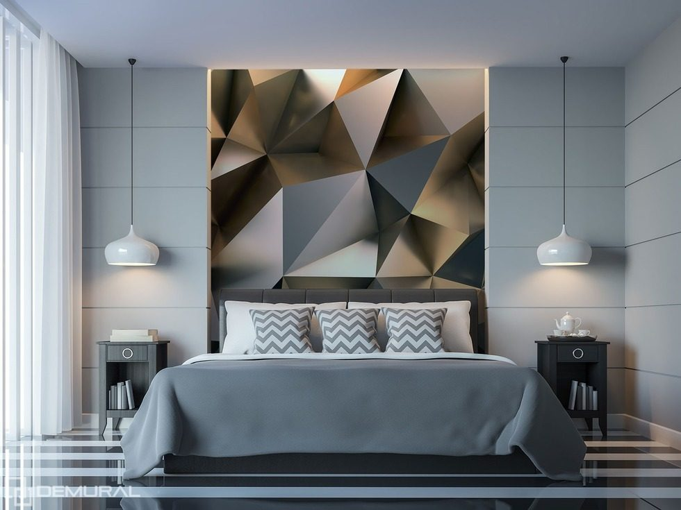The geometric mish mash of ecstasy bedroom wallpaper mural photo wallpapers demural - Wallpaper for womens bedroom ...