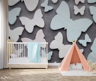 with the butterfly wing childs room wallpaper mural photo wallpapers demural