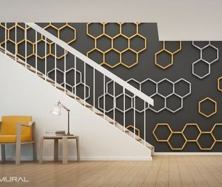 like in a hive magic of geometry patterns wallpaper mural photo wallpapers demural
