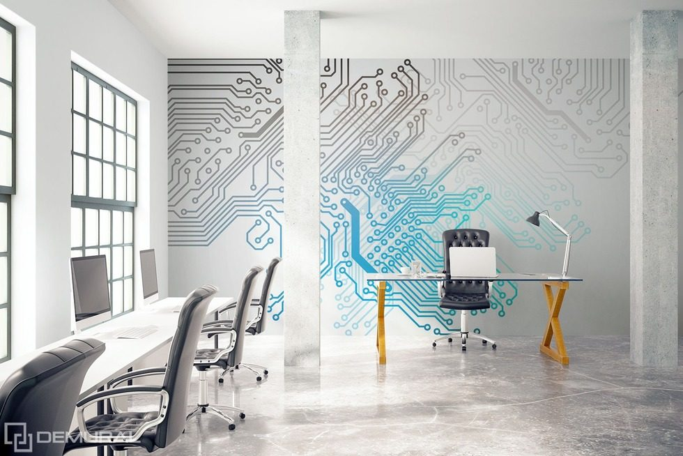 Among the threads of the uncontrollable events Office wallpaper mural Photo wallpapers Demural