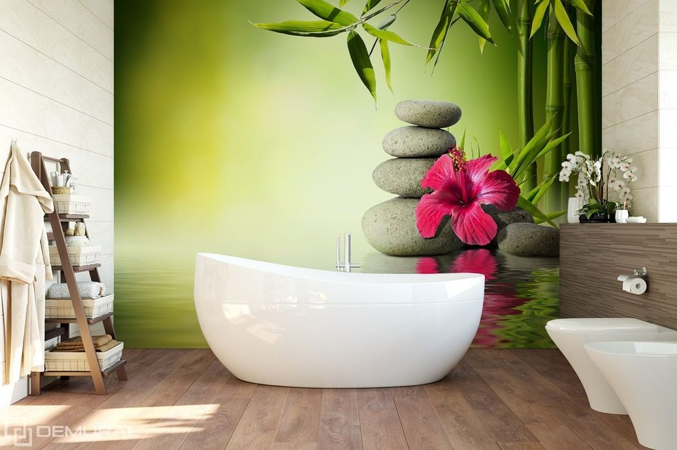 Out of love for the natural Bathroom wallpaper mural Photo wallpapers Demural