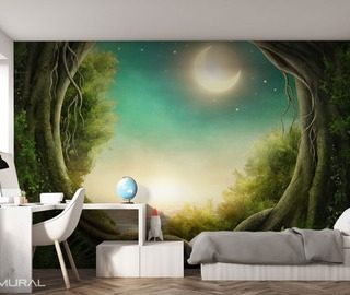 when the world goes to sleep teenagers room wallpaper mural photo wallpapers demural