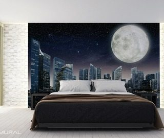 the night of full moon cosmos wallpaper mural photo wallpapers demural