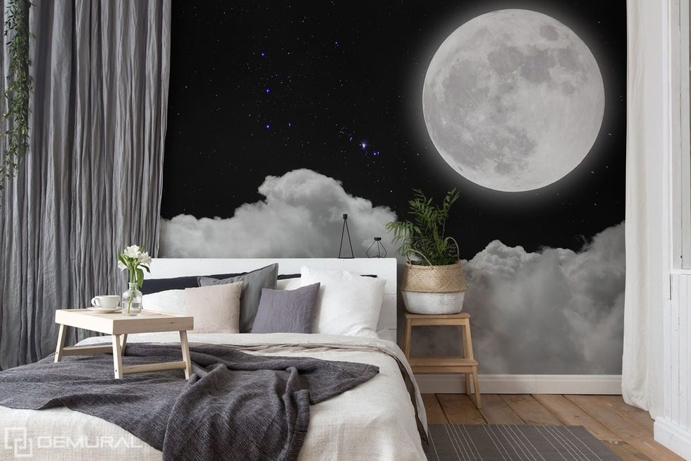 The full moon above the clouds Sky wallpaper mural Photo wallpapers Demural