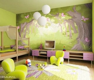 in the magical forest world childs room wallpaper mural photo wallpapers demural