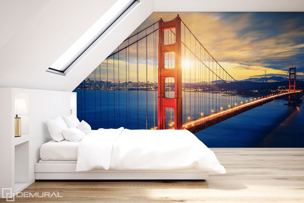 In the world of the sunset Bridges wallpaper mural Photo wallpapers Demural