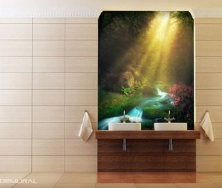 in the beautiful dawn hour bathroom wallpaper mural photo wallpapers demural