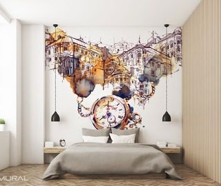 Urban Gentleness Bedroom Wallpaper Mural Photo Wallpapers Demural
