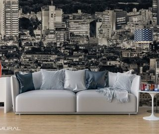 in the embrace of a big city cities wallpaper mural photo wallpapers demural