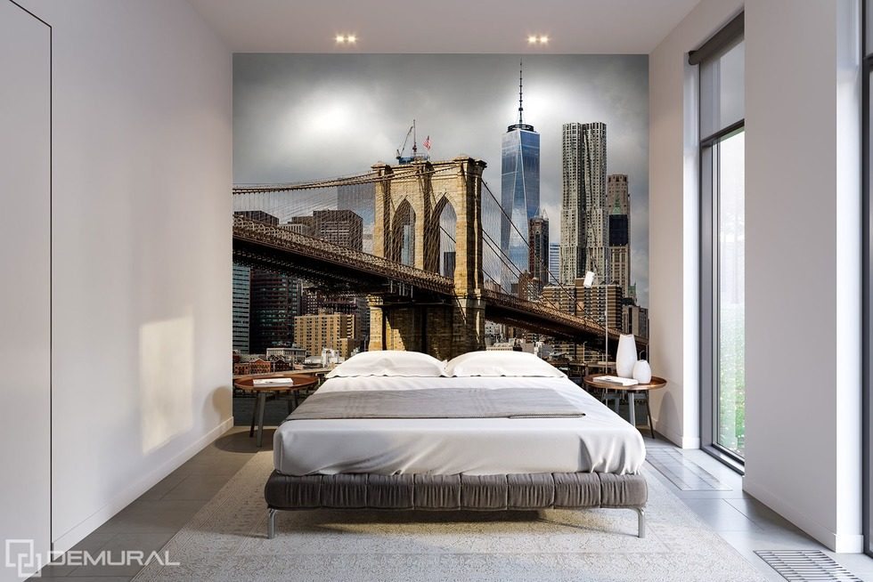 Urban chic Bridges wallpaper mural Photo wallpapers Demural
