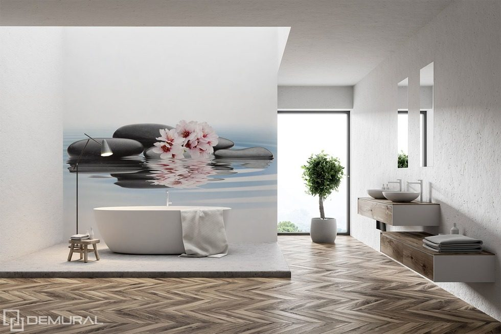 Oriental uniqueness Bathroom wallpaper mural Photo wallpapers Demural