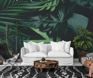 into the abyss of plants living room wallpaper mural photo wallpapers demural