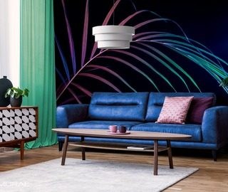 power of color living room wallpaper mural photo wallpapers demural