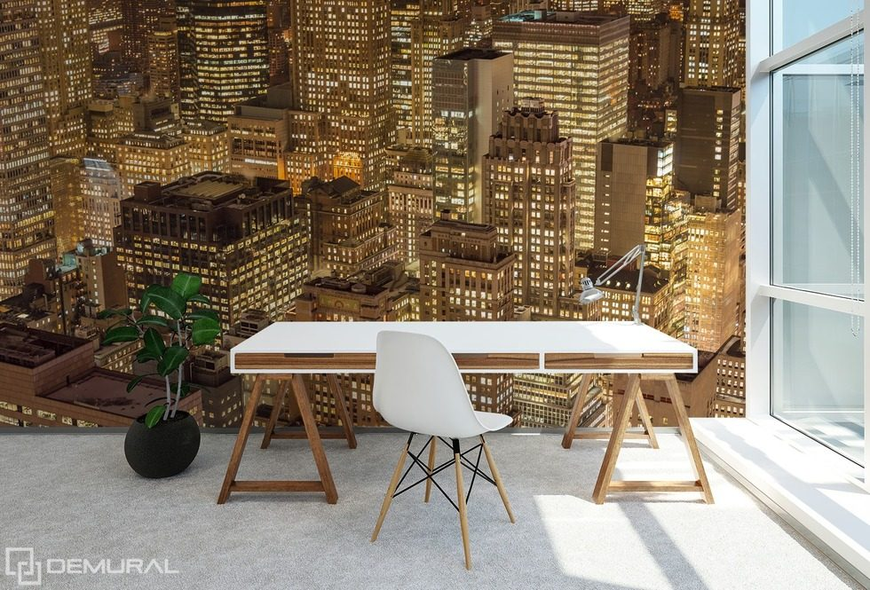 A metropolis full of magic Cities wallpaper mural Photo wallpapers Demural