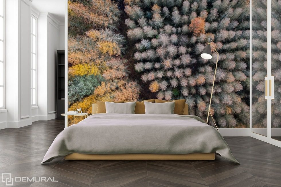 The power of three-dimensional Forest wallpaper mural Photo wallpapers Demural