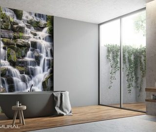 subtle water soothing bathroom wallpaper mural photo wallpapers demural