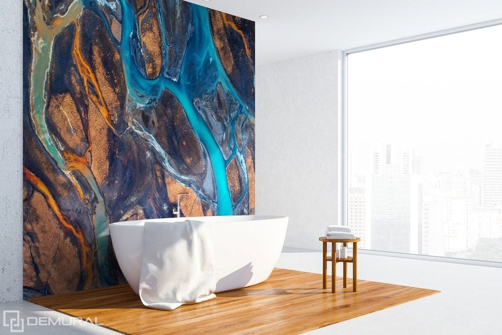 Still in amazement at the colours Bathroom wallpaper mural Photo wallpapers Demural