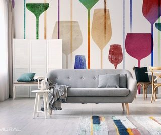 welcome to a land full of colors living room wallpaper mural photo wallpapers demural