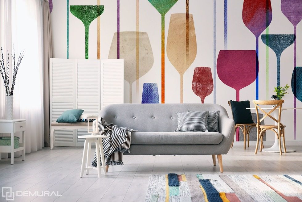 Welcome to a land full of colors! Living room wallpaper mural Photo wallpapers Demural