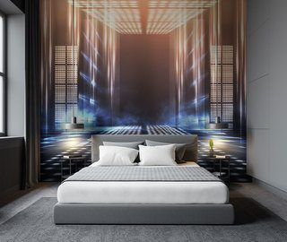 the gate leading to the future three dimensional wallpaper mural photo wallpapers demural