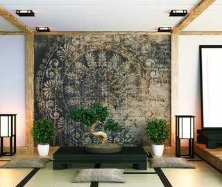 oriental interior climate with indian mandala oriental wallpaper mural photo wallpapers demural