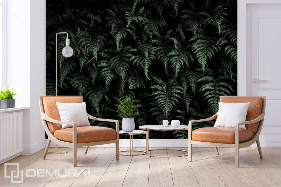 The mysterious jungle in the living room Living room wallpaper mural Photo wallpapers Demural