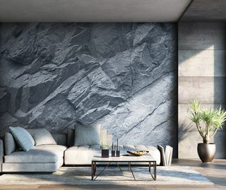 stone wall living room wallpaper mural photo wallpapers demural