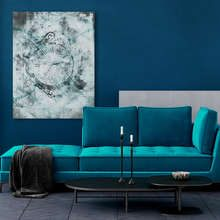 Turquoise-fashionable-and-refined-canvas-prints-retro-vintage-canvas-prints-demural