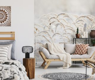 the softness of the grasses creates a climate living room wallpaper mural photo wallpapers demural