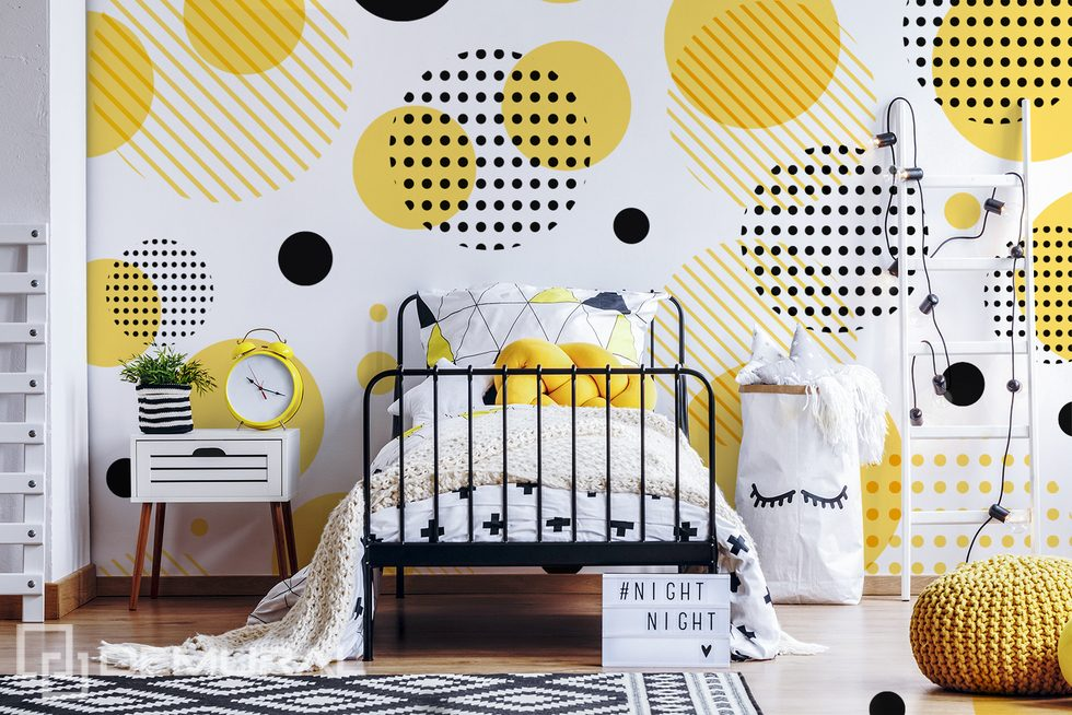 A child's original, graphic world Teenager's room wallpaper, mural Photo wallpapers Demural
