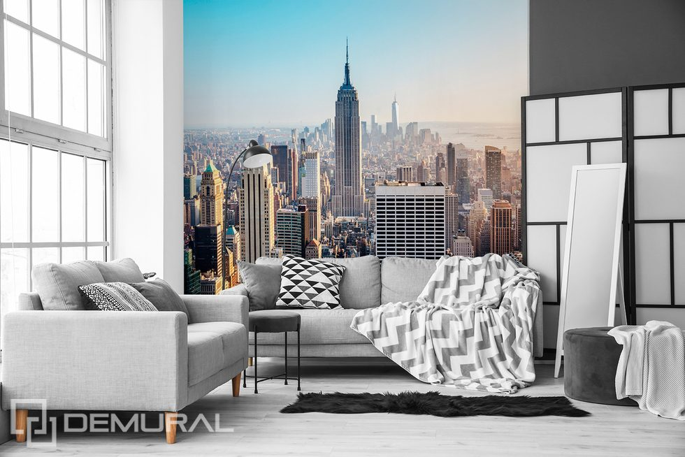 City to the horizon Cities wallpaper mural Photo wallpapers Demural