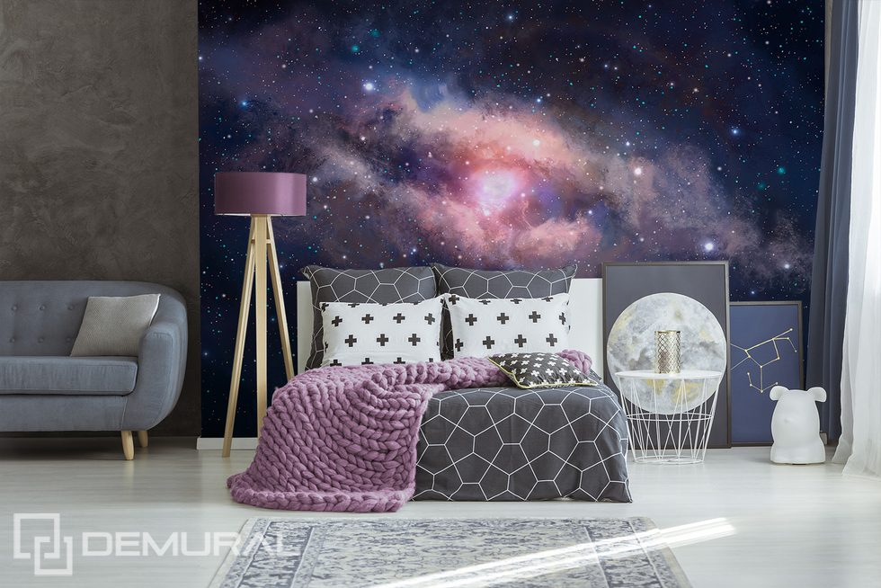 The great energy of the coloured nebula Cosmos wallpaper mural Photo wallpapers Demural