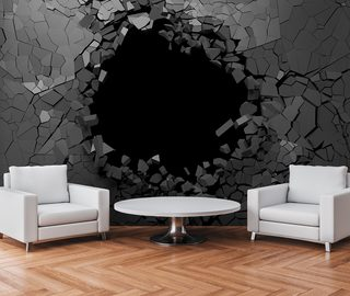 an engaging hole in the wall three dimensional wallpaper mural photo wallpapers demural