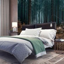 A-good-nights-sleep-in-the-dark-forest-forest-wallpaper-mural-photo-wallpapers-demural