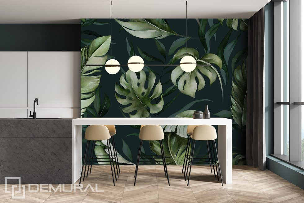Nature in its modern form Kitchen wallpaper mural Photo wallpapers Demural