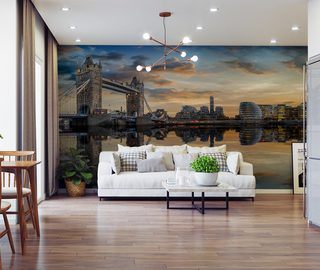 the charms of the big city await you across the river cities wallpaper mural photo wallpapers demural