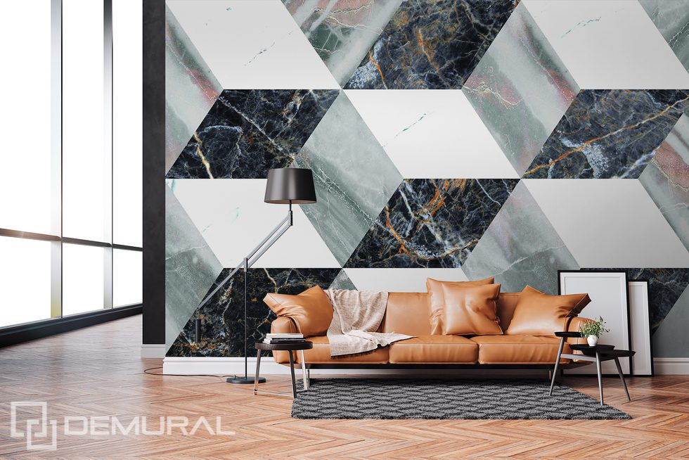 Marble, but three-dimensional Three-dimensional wallpaper, mural Photo wallpapers Demural