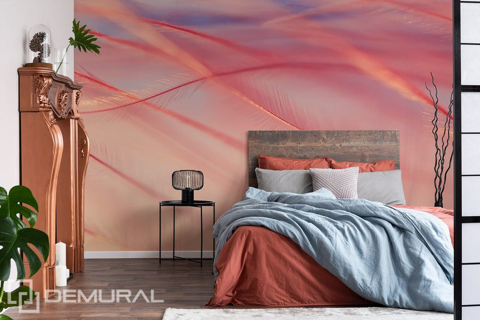Gentle feathers in the wind Bedroom wallpaper mural Photo wallpapers Demural