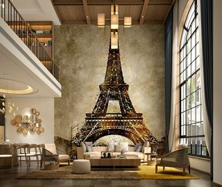 a big mural at home why not eiffel tower wallpaper mural photo wallpapers demural