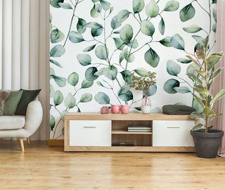the delicate charm of vegetation living room wallpaper mural photo wallpapers demural