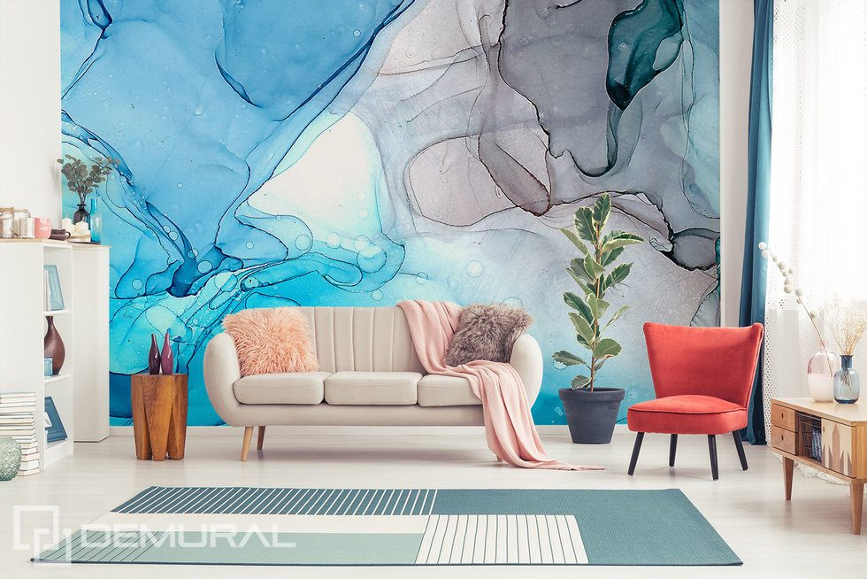 Where colours merge Abstraction wallpaper mural Photo wallpapers Demural